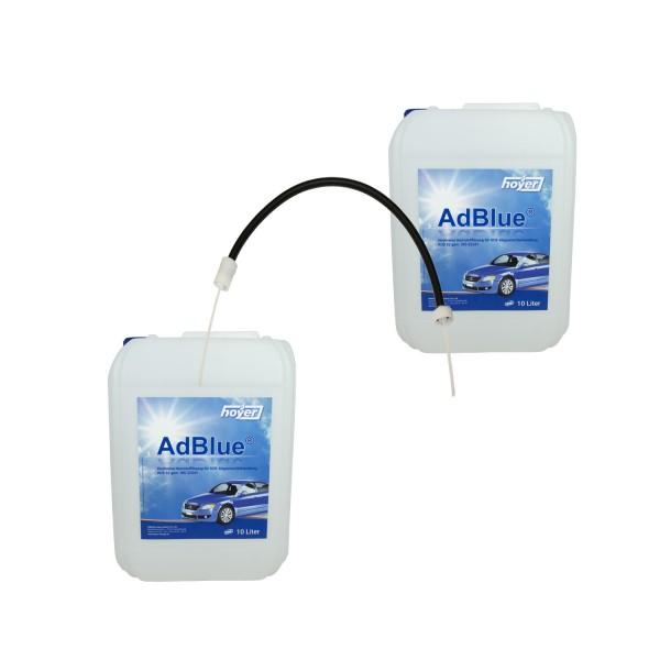 2 x 10 Liter Kanister AdBlue® von HOYER + Füllschlauch