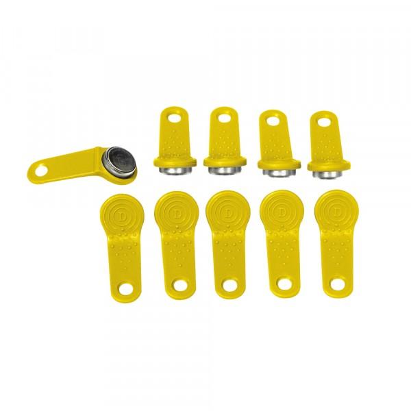 Benutzerschlüssel, 10 Stück, gelb